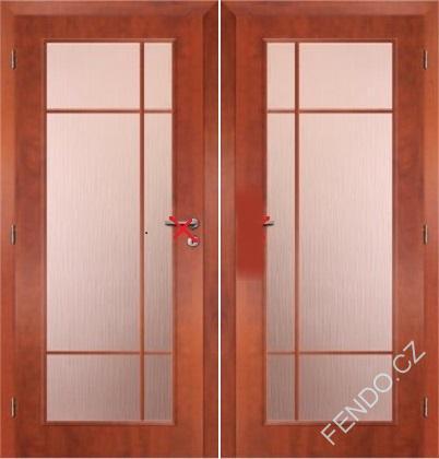Interiérové dvoukřídlé dveře